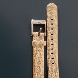 NIB gold leather alta fitbit band
